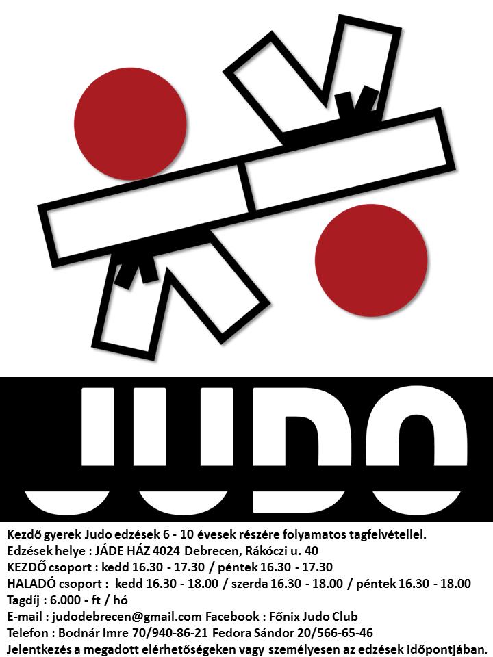 Judo edzés Debrecen